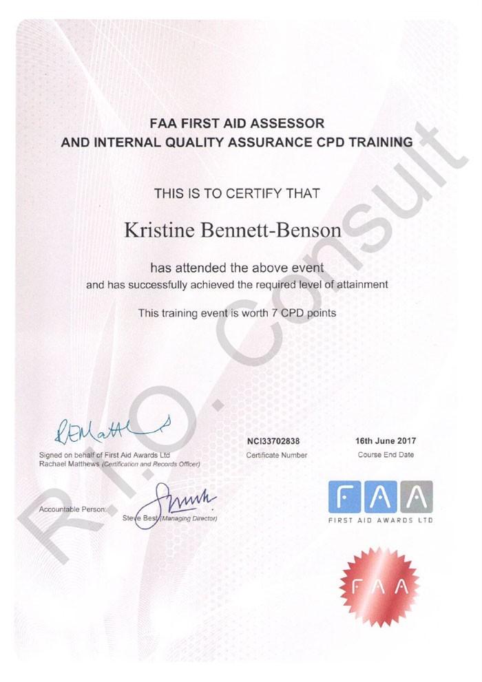 FAA First Aid Assessor