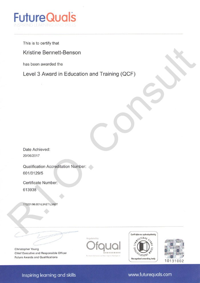 Level 3 award in education