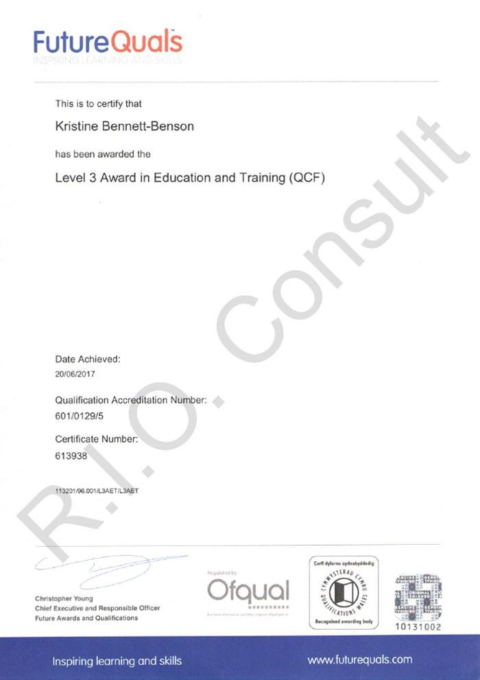 Level 3 award in education