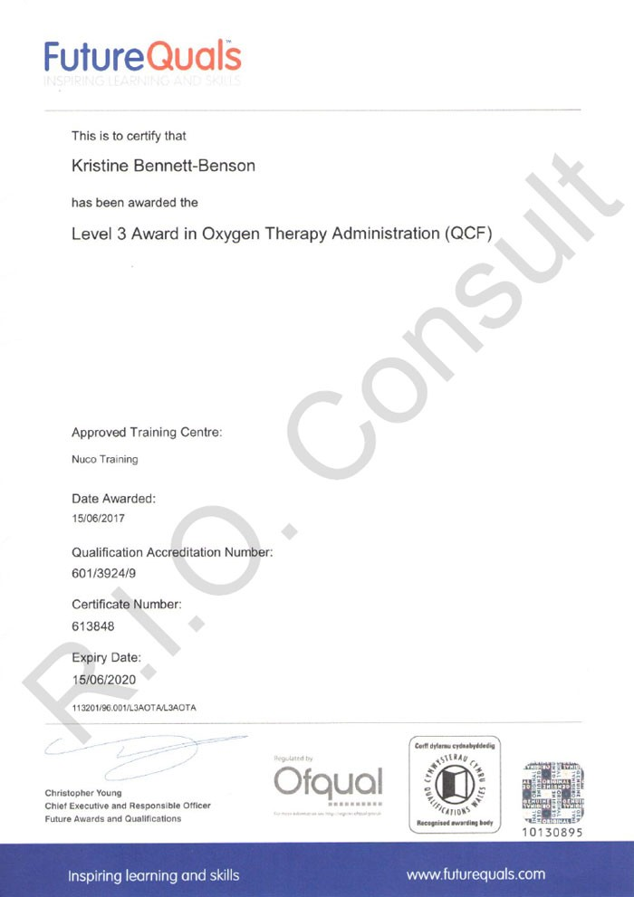 Level 3 ward in oxygen therapy